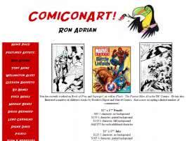 Screenshot von der Unterseite des Künstlers Ron Adrian