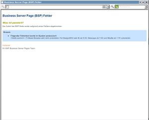 SAP Bewerben nicht immer möglich