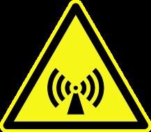 Achtung Funkwellen Warnzeichen