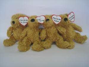 Teddybäraktion von einer Versicherung