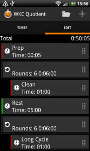 Impetus Interval Timer Preset Editor