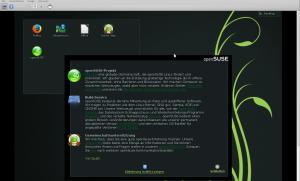 openSUSE nach dem ersten virtualisiertem Start