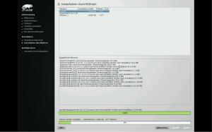 openSUSE bei der Netzwerkinstallation, Pakete werden über NAT heruntergeladen