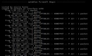 Logwatch meldet mir einen solchen Block der IP: