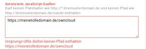 GoogleDeveloper owncloud FQDN
