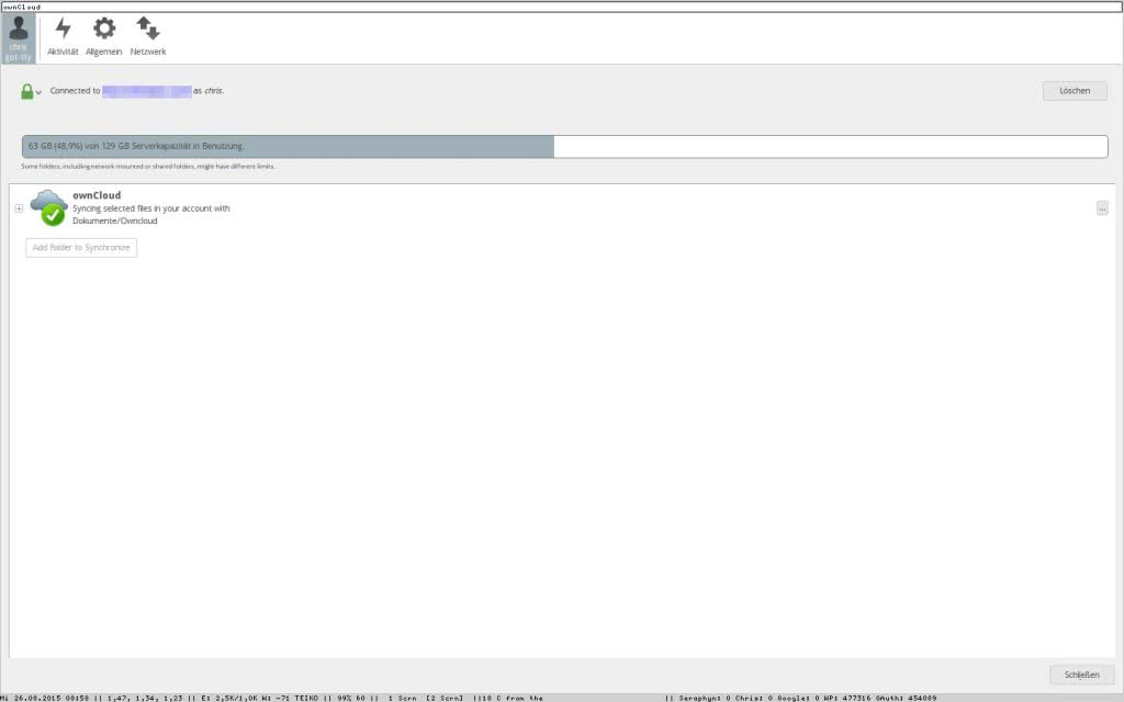 Debian Notion und der Client von Owncloud 2.0