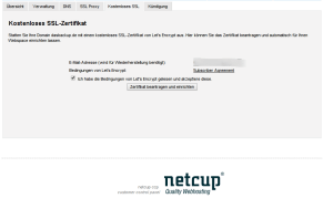Netcup.de bietet automatisiertes Zertifikat erstellen mit Let's Encrypt an