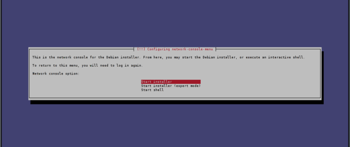 Debian über SSH installieren