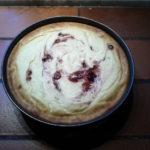 Sportlicher Quarkkuchen mit Cranberries