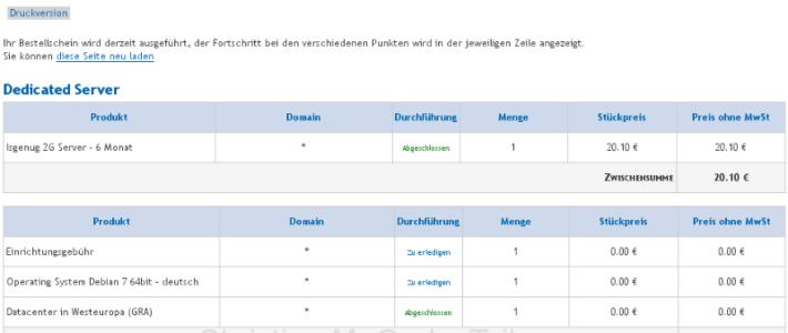 OVH Serverbestellung KS 2G Stand 26.09.2013