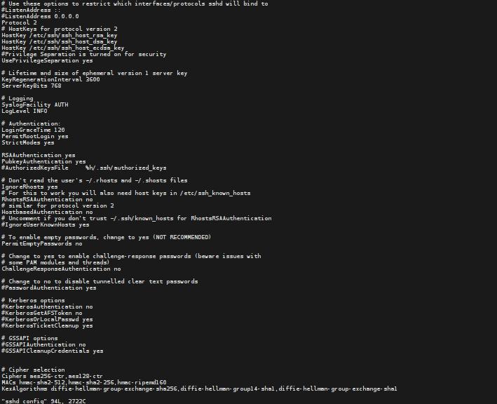 Sichere sshd Verschlüsselung in Debian Wheezy