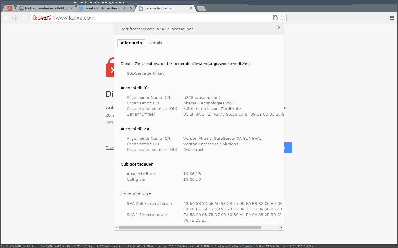 Kalixa.com sucht Zertifikate