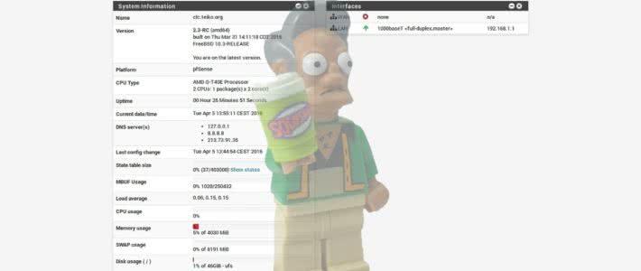 pfsense 2.3 PCengines APU 1D4