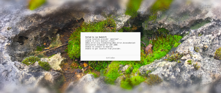 Die Lösungen für Fedoras Redshift Geoclue Error