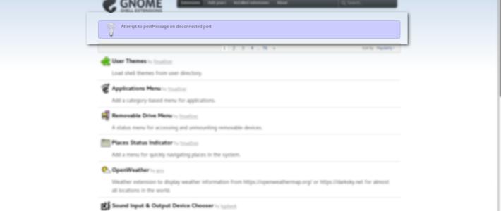 Firefox 52 und Gnome extensions unter Fedora