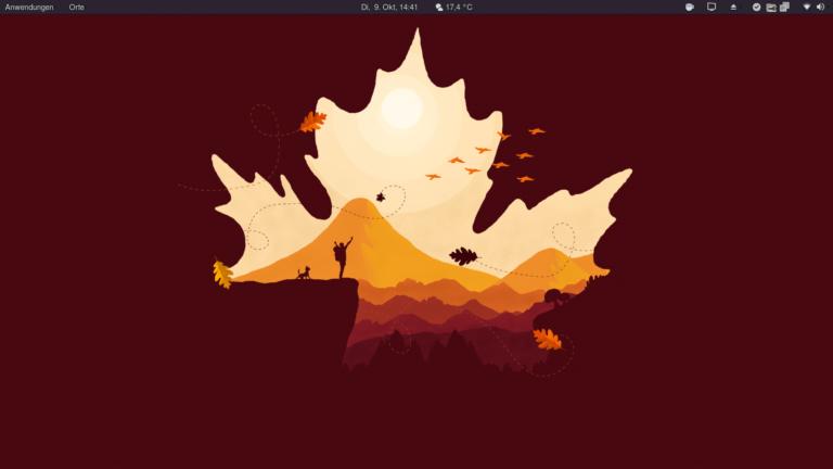 Ein Screenshot meines Desktop mit Gnome 3.28.3 unter Fedora 28